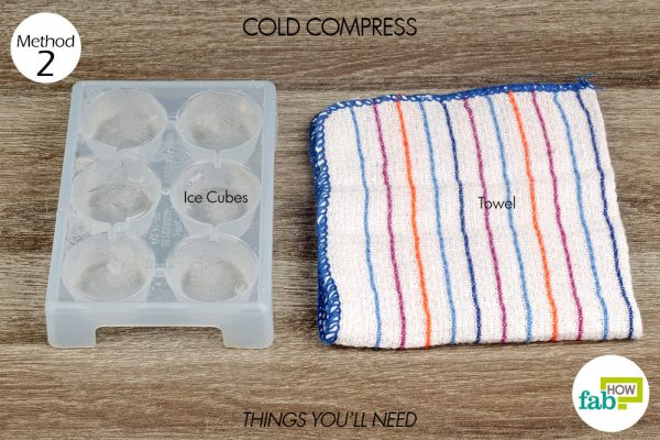 things you'll need to treat blood blister with cold compress