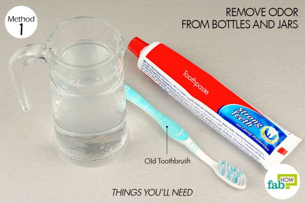 things you'll need to use toothpaste to remove odor from jars