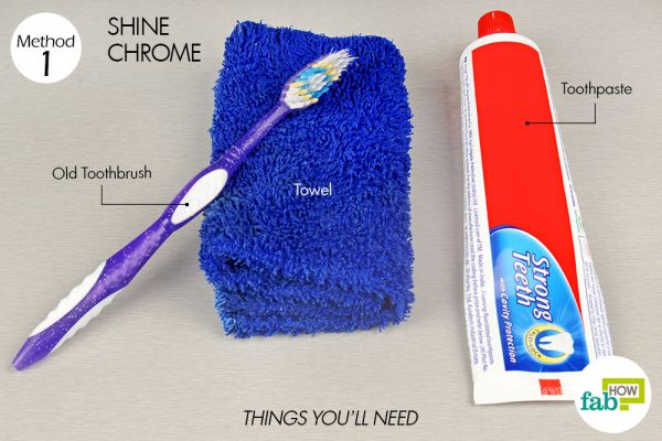 things you'll need to use toothpaste to shine chrome