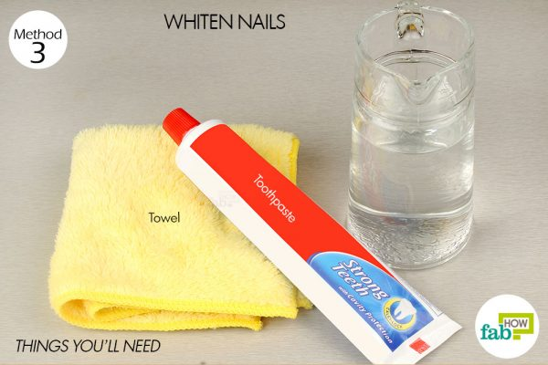 things you'll need to use toothpaste to whiten nails