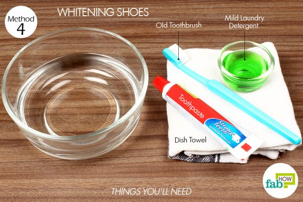 things you'll need to use toothpaste to whiten shoes