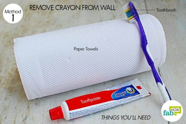 things you'll need to use toothpaste to clean crayon from wall