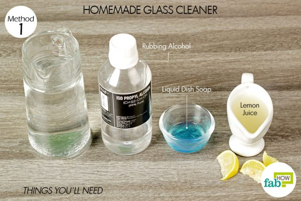 things you'll need for homemade glass cleaner