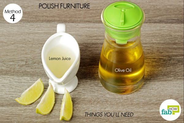 things you'll need for furniture polish