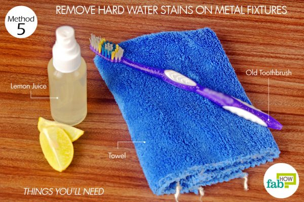 things you'll need for removing hard water stains