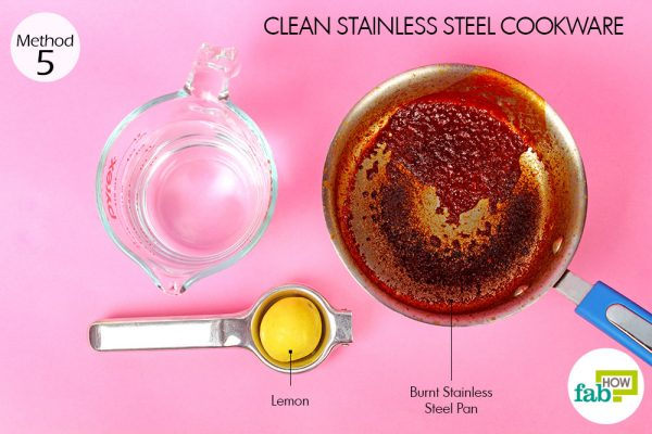 things you'll need for cleaning stainless steel cookware