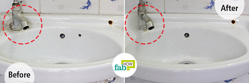 How To Clean A White Porcelain Sink And Restore Its Shine Fab How - What to use to clean bathroom sink