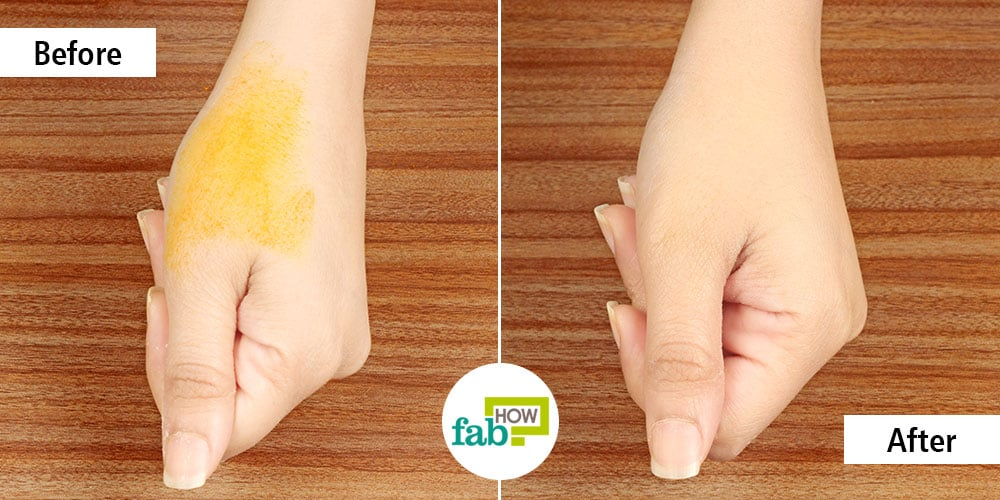 How To Remove Turmeric Stains From Skin And Nails At Home