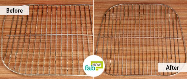 before after cleaning grill with lemon