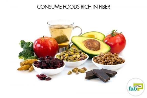 consume foods rich in fiber