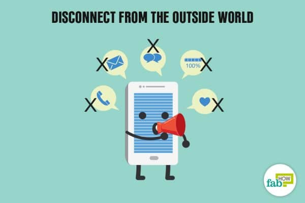 disconnect from outside world