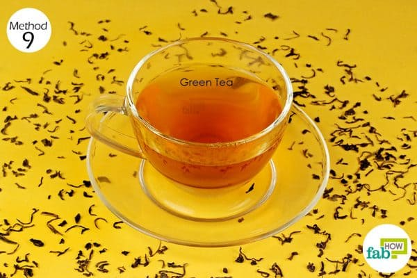 drink green tea after a garlicky meal