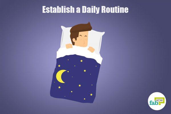 establish a daily routine