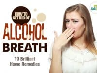 how to get rid of alcohol breath