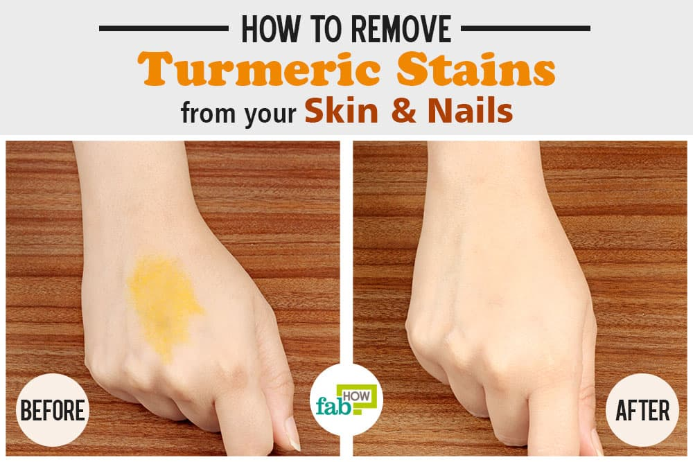 how to remove turmeric stains from skin and nails