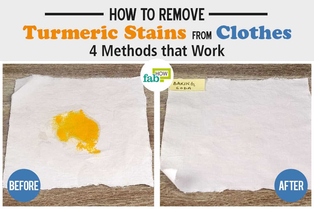 how to remover turmeric stains from clothes