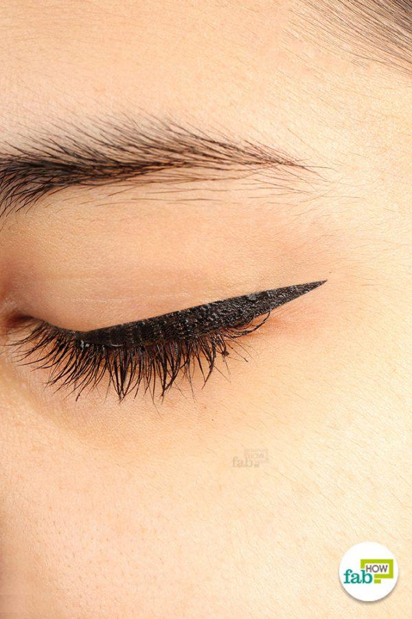 final winged eyeliner
