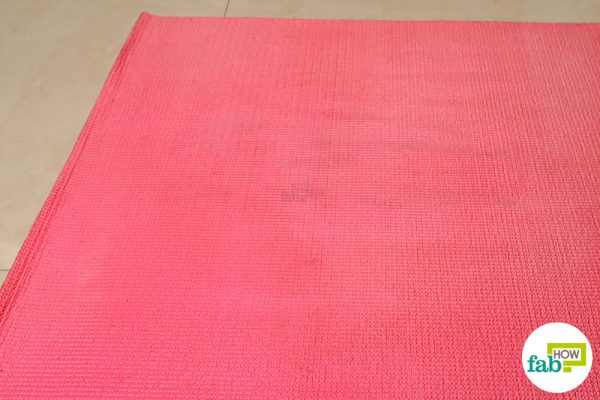 final clean yoga mat using witch hazel