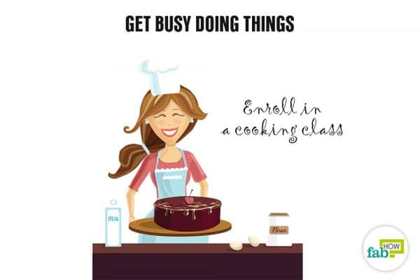 get busy doing things