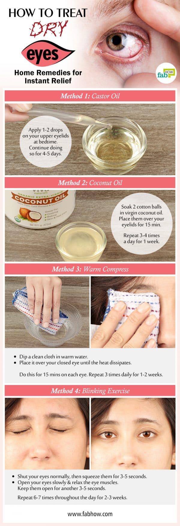 How to Treat Dry Eyes Summary