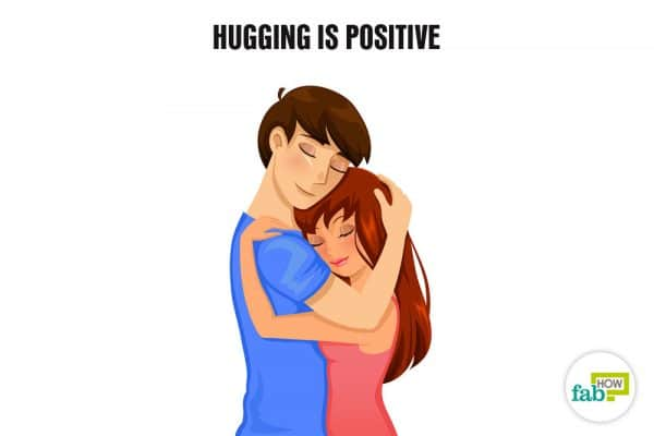 hugging is positive