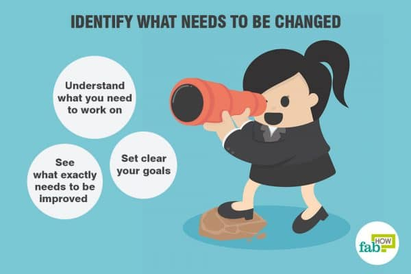 identify what needs to be changed