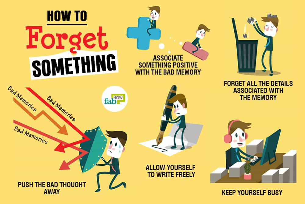 How to brainwash yourself to forget someone