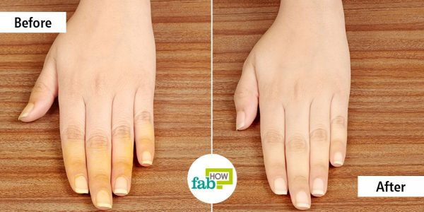 Remove turmeric stains from your skin and nails