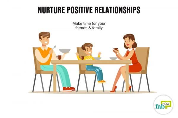 nurture positive relationships
