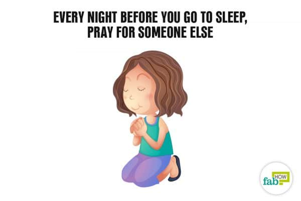 pray for someone else