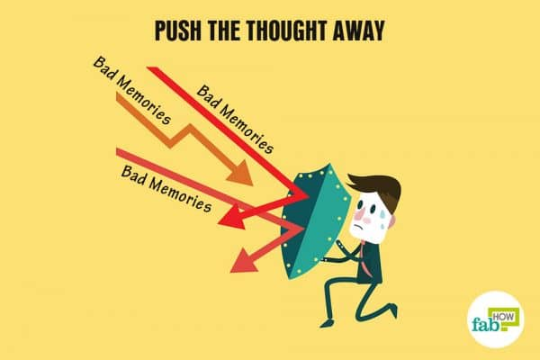 push the thought away