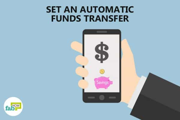 set an automatic funds transfer