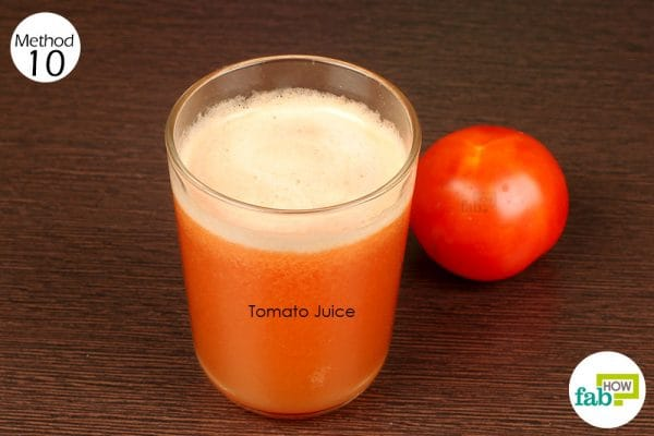 drink a glass of tomato juice