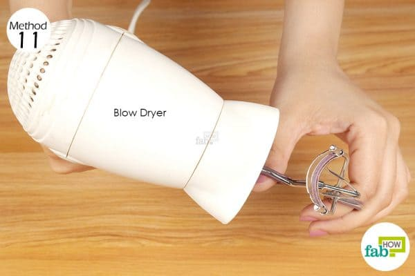 heat eyelash curler with blow dryer
