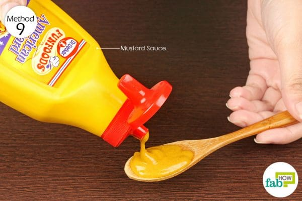 rinse your mouth with mustard and swallow some