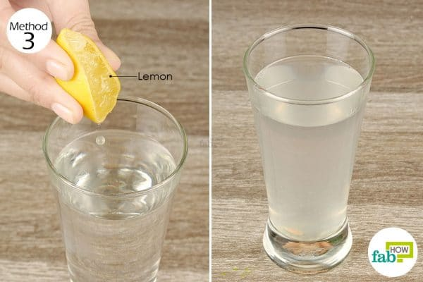 squeeze lemon in water and drink