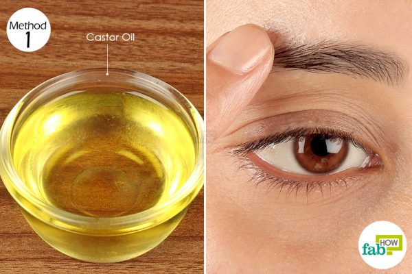 apply castor oil on your eyebrows