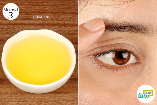 apply olive oil on your eyebrows