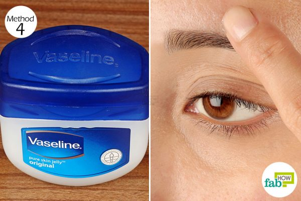 rub vaseline on your eyebrows