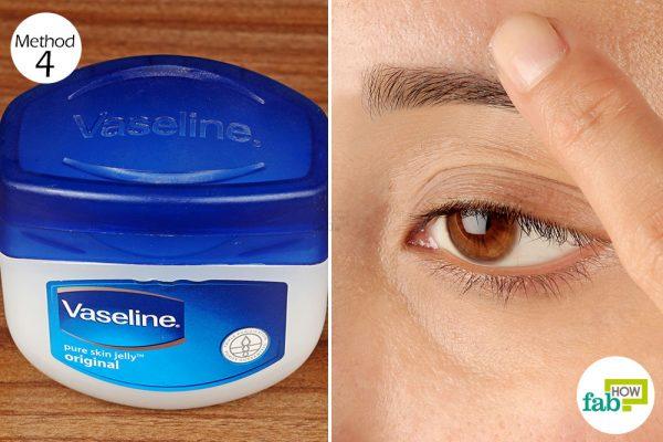 rub vaseline on your eyebrows