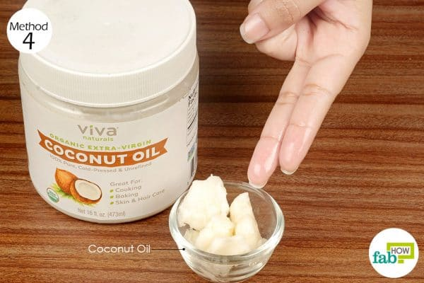 apply virgin coconut oil
