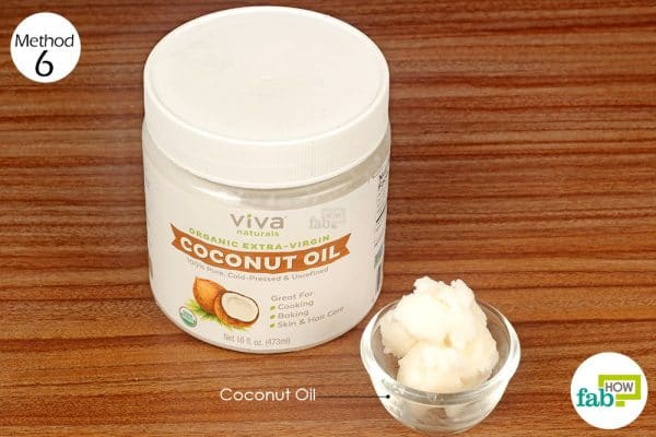 massage coconut oil on aching back