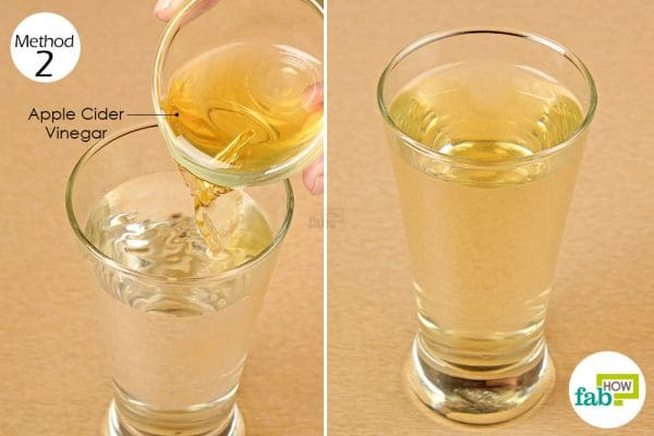 mix apple cider vinegar with water and drink