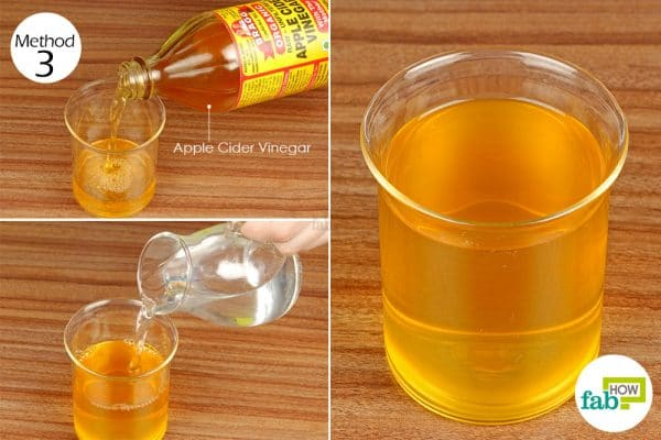 use diluted apple cider vinegar as hair rinse