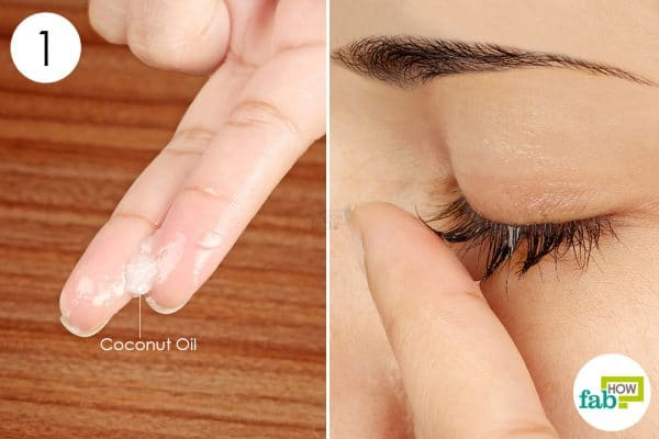 apply coconut oil on your lashes