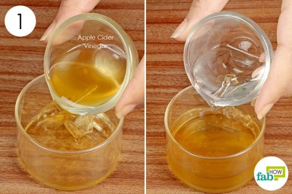 Dilute apple cider vinegar with water