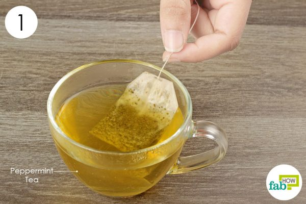 brew a cup of peppermint tea
