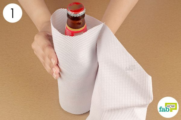wrap the bottle in paper towel