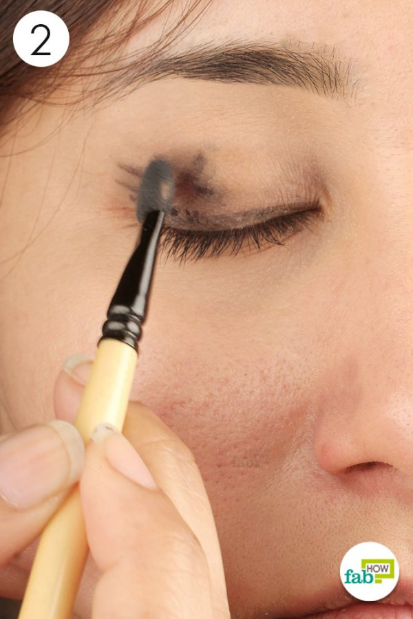 blend it with an eyeshadow brush