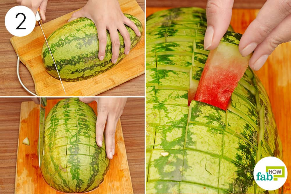 Best way to cut a watermelon into sticks